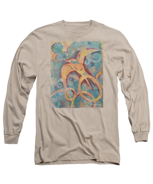 Long Sleeve T-Shirt featuring the painting Mistral's Messenger by Cynthia Lagoudakis