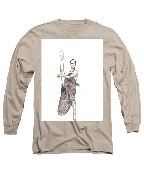 Misty Ballerina Dancer  Long Sleeve T-Shirt