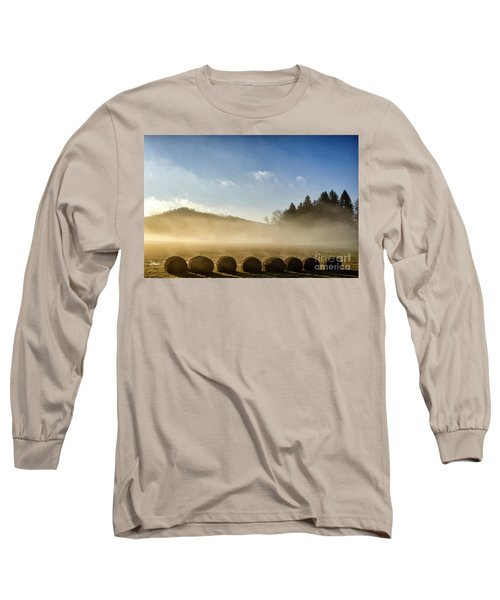 Long Sleeve T-Shirt featuring the photograph Misty Country Morning by Thomas R Fletcher