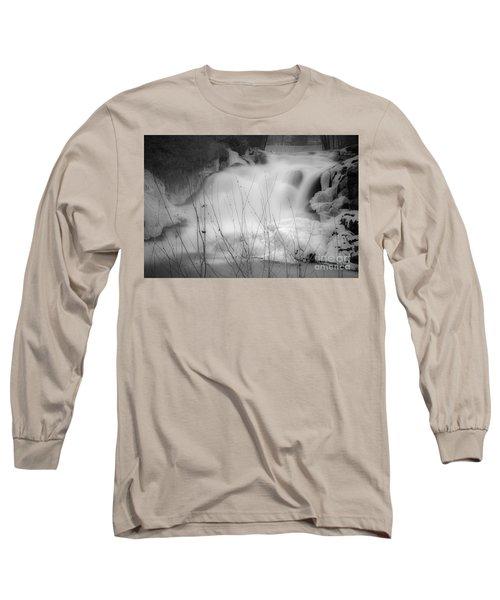 Misty Icy Waterfall Long Sleeve T-Shirt