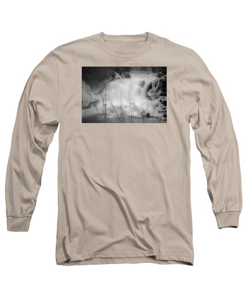 Misty Icy Waterfall Long Sleeve T-Shirt