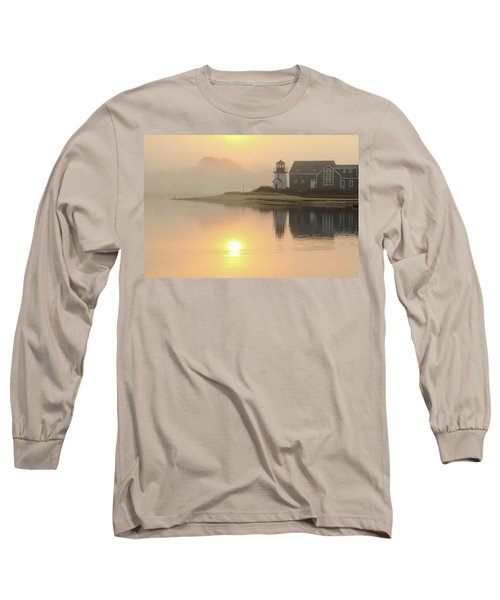 Long Sleeve T-Shirt featuring the photograph Misty Morning Hyannis Harbor Lighthouse by Roupen  Baker