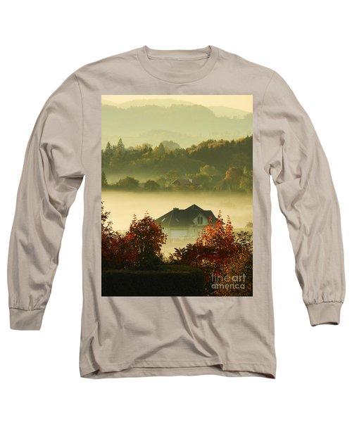 Misty Morning Long Sleeve T-Shirt by Mariola Bitner