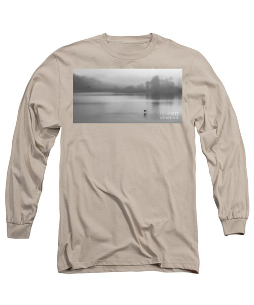 Misty Morning On The Lake Long Sleeve T-Shirt by Linsey Williams