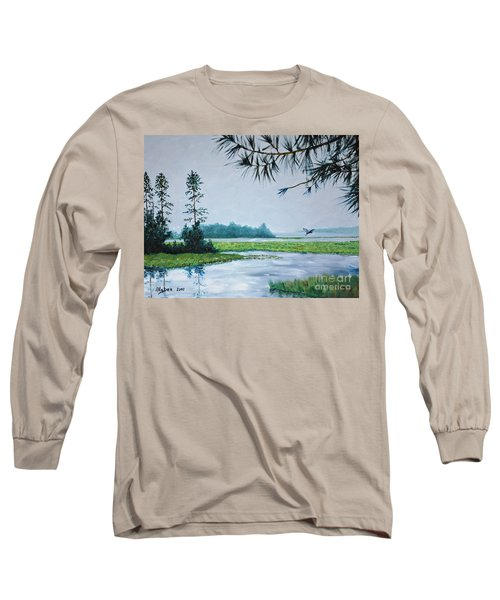 Misty Morning Long Sleeve T-Shirt by Stanton Allaben