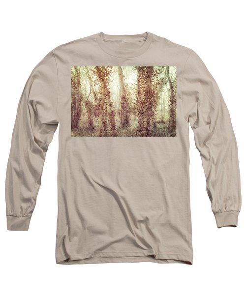 Misty Morning Winter Forest  Long Sleeve T-Shirt by Robert FERD Frank