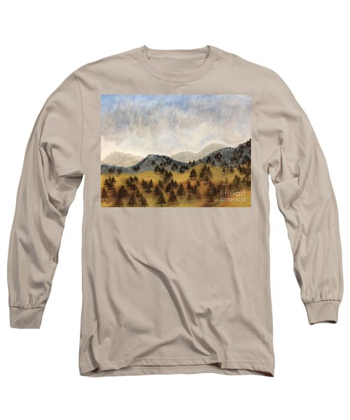 Misty Rain On The Mountain Long Sleeve T-Shirt