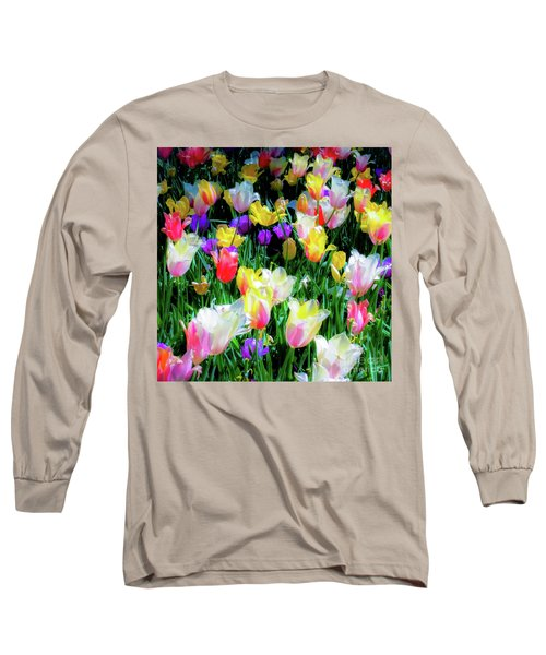 Mixed Tulips In Bloom  Long Sleeve T-Shirt