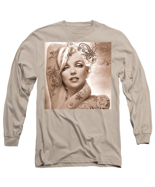 Mm 127 Deco Sepia Long Sleeve T-Shirt
