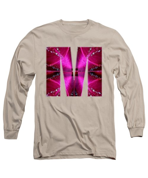 Mmm Mm M Alpha Art On Shirts Alphabets Initials   Shirts Jersey T-shirts V-neck By Navinjoshi Long Sleeve T-Shirt