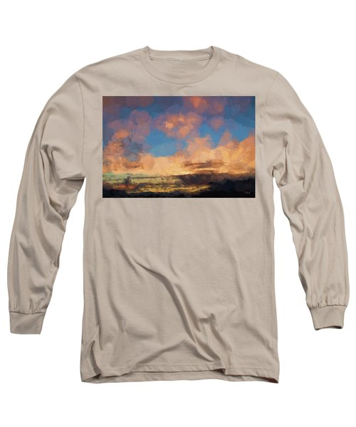 Moab Sunrise Abstract Painterly Long Sleeve T-Shirt