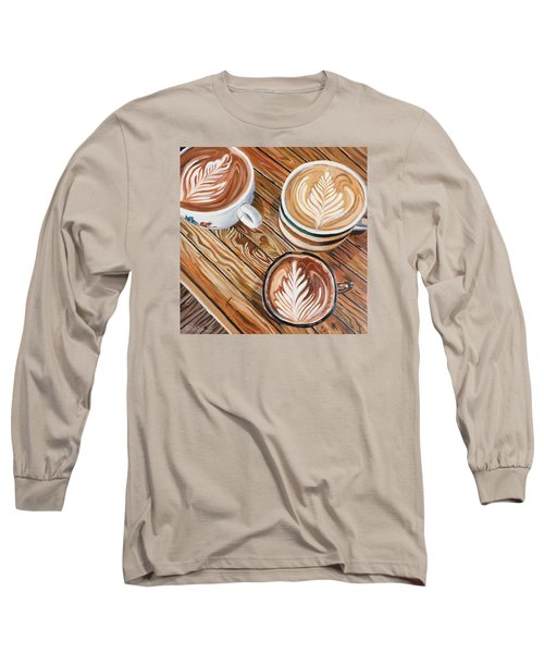 Mocha Trinity Long Sleeve T-Shirt by Nathan Rhoads