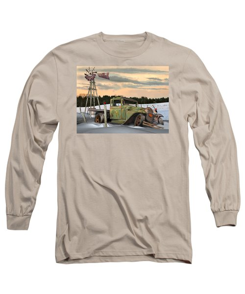 Model A Flatbed Long Sleeve T-Shirt by Stuart Swartz