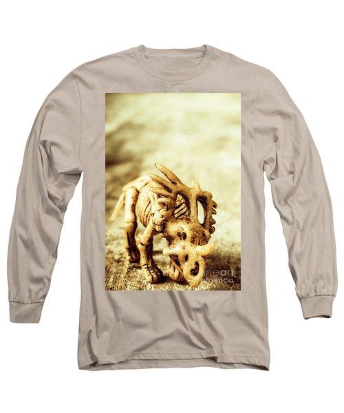 Model Styracosaurus Skeleton Long Sleeve T-Shirt