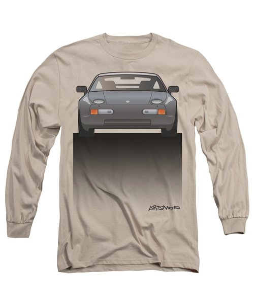 Modern Euro Icons Series Porsche 928 Gts Split Long Sleeve T-Shirt