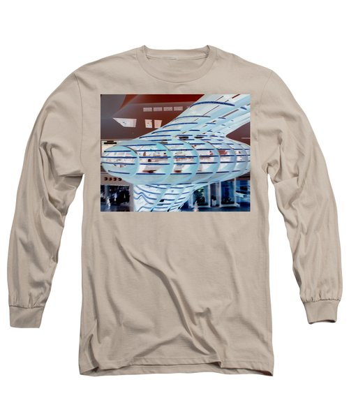 Ghostly Shopping Mall Long Sleeve T-Shirt