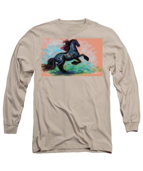 Modern Royal Friesian Long Sleeve T-Shirt
