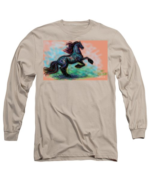 Modern Royal Friesian Long Sleeve T-Shirt