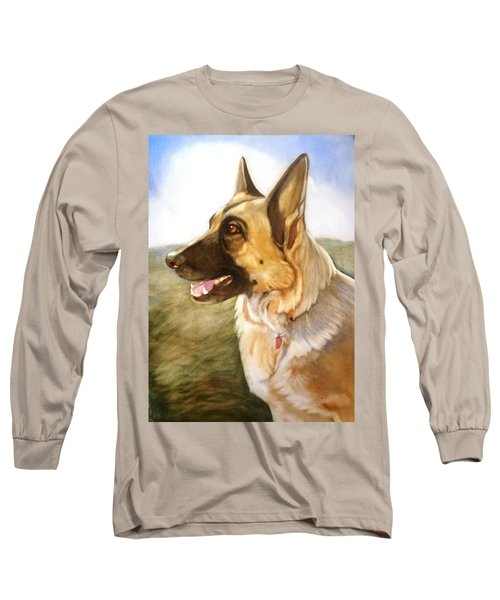 Long Sleeve T-Shirt featuring the painting Mollie by Marilyn Jacobson