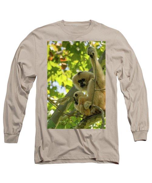 Mommy Gibbon Long Sleeve T-Shirt
