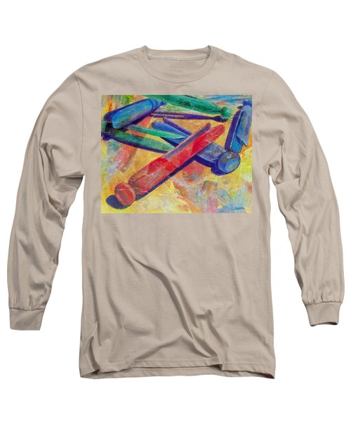 Long Sleeve T-Shirt featuring the painting Mom's Wash Day by Susan DeLain