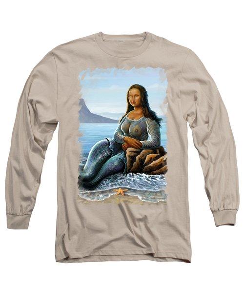 Monalisa Mermaid Long Sleeve T-Shirt