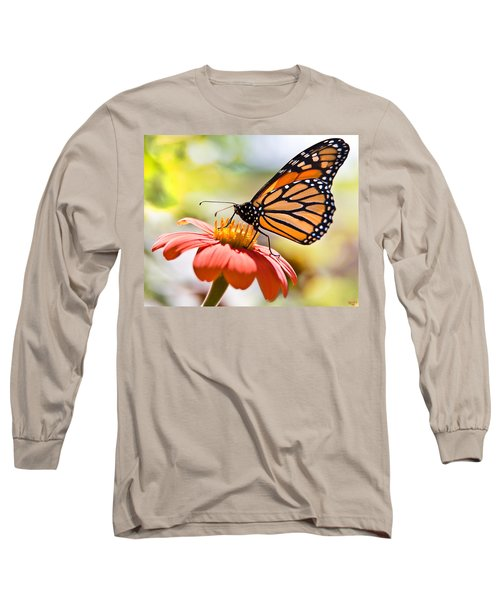 Monarch Butterfly Long Sleeve T-Shirt by Chris Lord