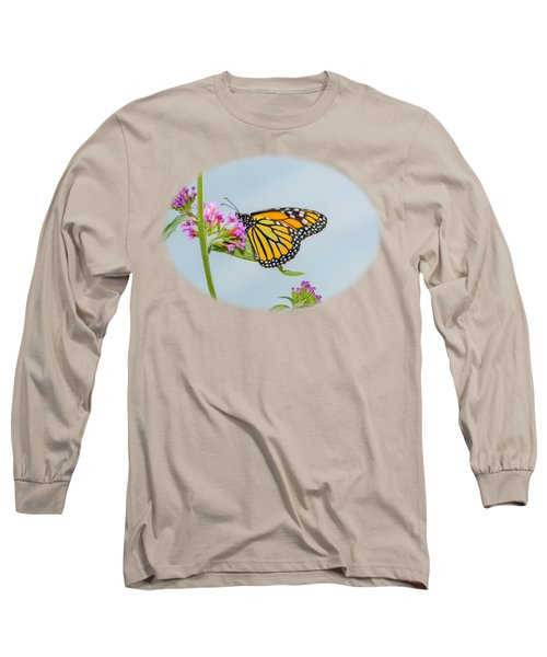 Monarch Butterfly Vignette Long Sleeve T-Shirt