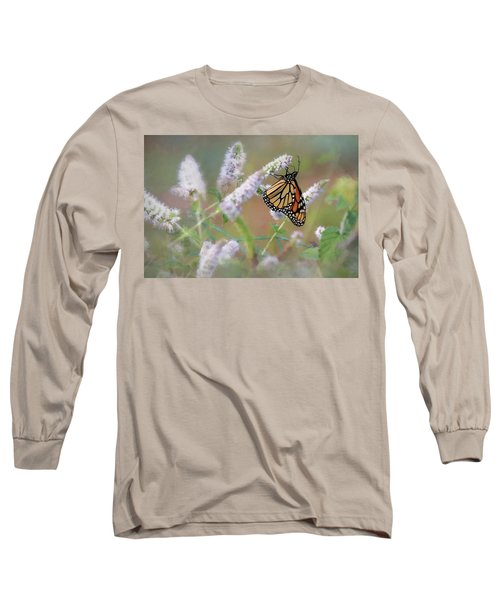 Long Sleeve T-Shirt featuring the photograph Monarch On Mint 2 by Lori Deiter