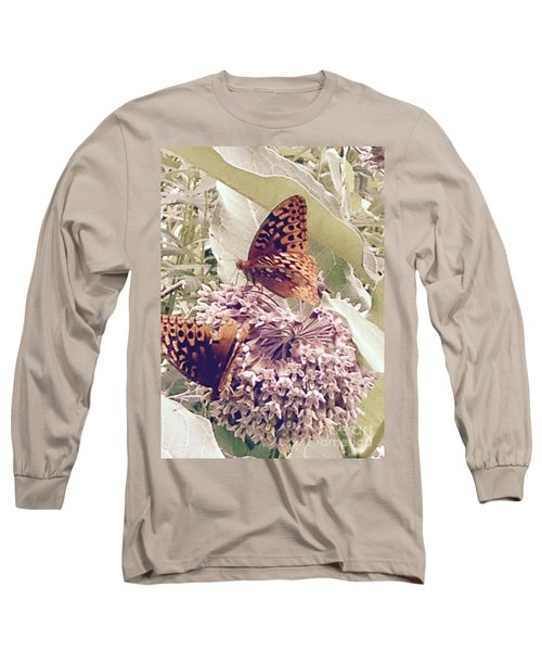 Monarch's On Milkweed Long Sleeve T-Shirt