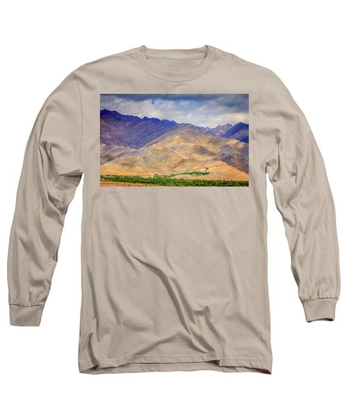 Long Sleeve T-Shirt featuring the photograph Monastery In The Mountains by Alexey Stiop