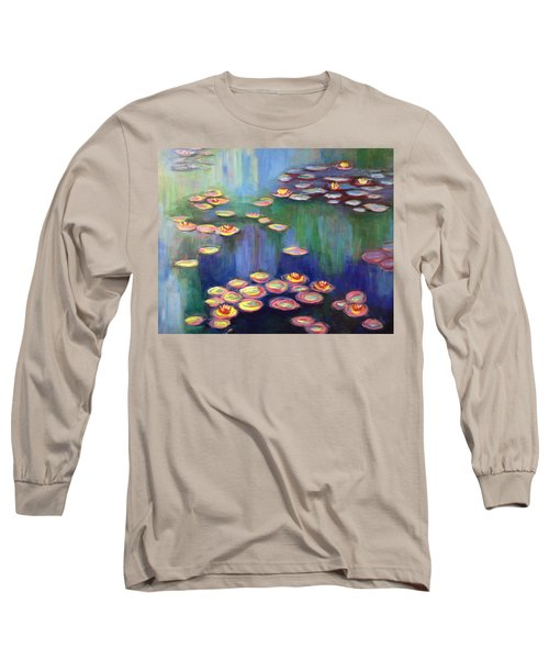 Monet's Lily Pads Long Sleeve T-Shirt