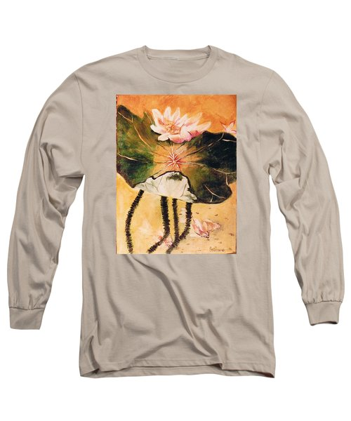 Monet's Water Lily Long Sleeve T-Shirt by Seth Weaver