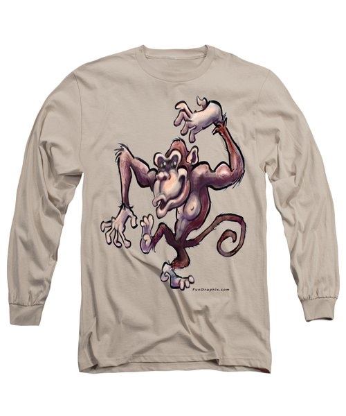 Monkey Long Sleeve T-Shirt by Kevin Middleton