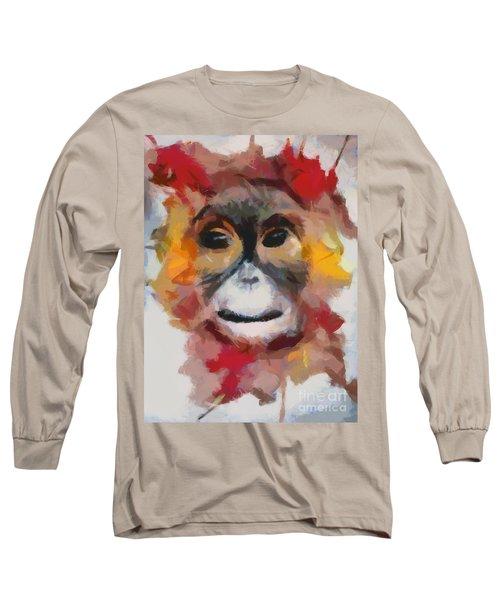 Monkey Splat Long Sleeve T-Shirt by Catherine Lott
