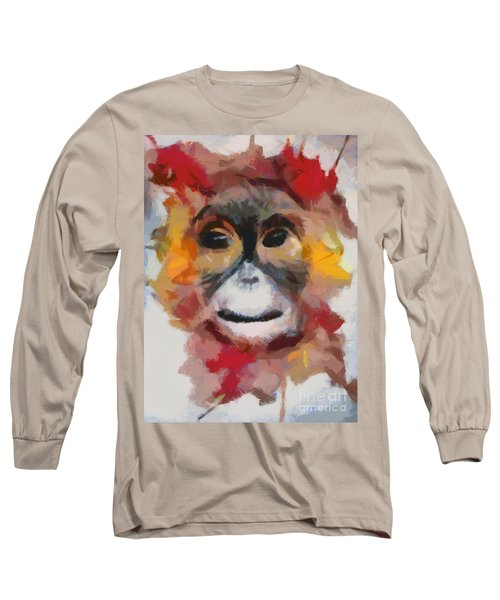 Monkey Splat Long Sleeve T-Shirt