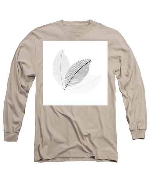 Monochrome Leaves Long Sleeve T-Shirt