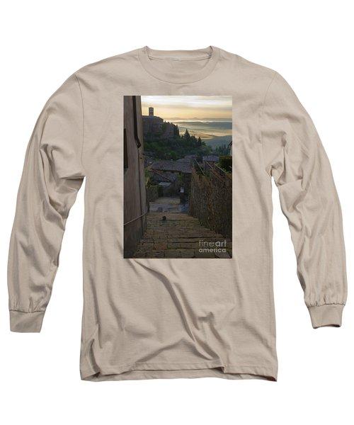 Montalcino City Long Sleeve T-Shirt by Yuri Santin