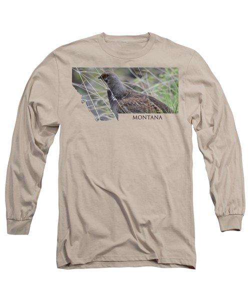 Montana- Dusky Grouse Long Sleeve T-Shirt