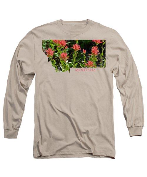 Montana-indian Paintbrush  Long Sleeve T-Shirt