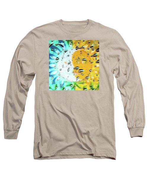 Moon And Sun Rainy Day Windowpane Long Sleeve T-Shirt