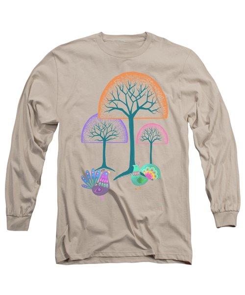 Moon Bird Forest Long Sleeve T-Shirt