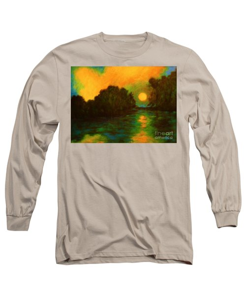 Moon Glow Long Sleeve T-Shirt by Alison Caltrider