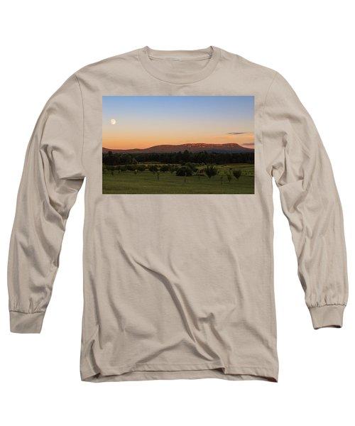 Moon Over Mount Tom Long Sleeve T-Shirt