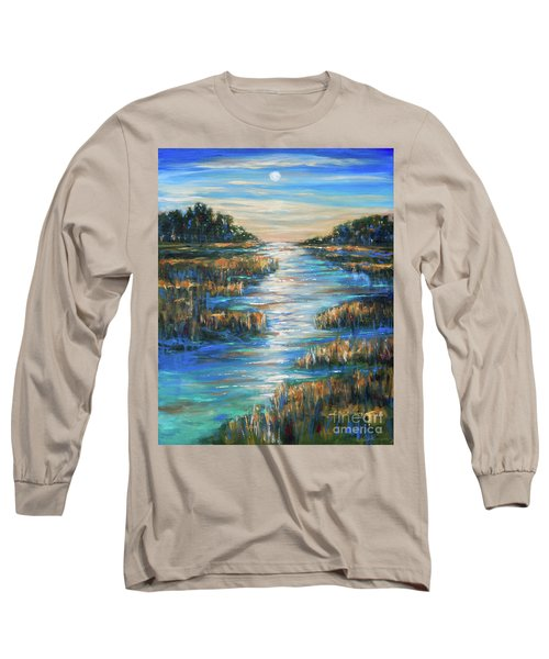 Moon Over Waterway Long Sleeve T-Shirt