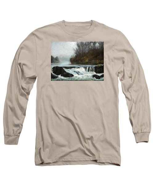 Moonlit Serenity Long Sleeve T-Shirt by Marna Edwards Flavell
