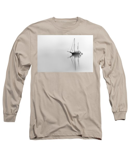 Moored On A Foggy Day Long Sleeve T-Shirt