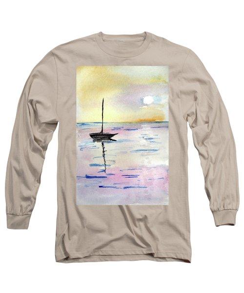Moored Sailboat Long Sleeve T-Shirt