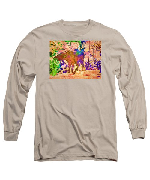 Moose Abstract Long Sleeve T-Shirt by Jan Amiss Photography