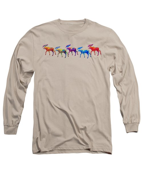 Moose Mystique Apparel Design Long Sleeve T-Shirt